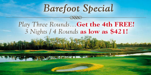 Golf Package: BIG, BEAUTIFUL BAREFOOT