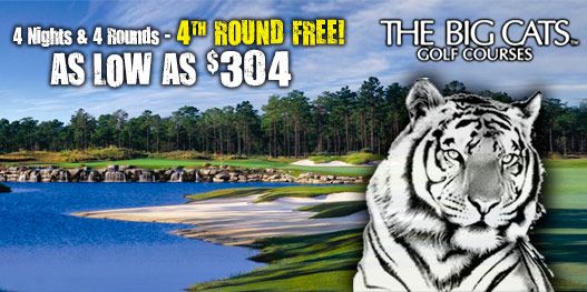 Golf Package: COME PLAY WITH THE BIG CATS!